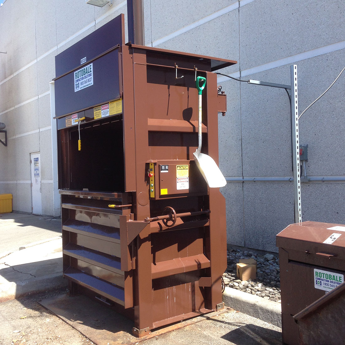 Protenergy vertical baler installation by Butler Disposal and Recycling